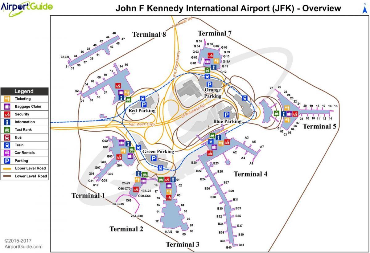 Aeroporto Jfk : New york aeroporto jfk mappa aeroporto jfk di new york mappa new