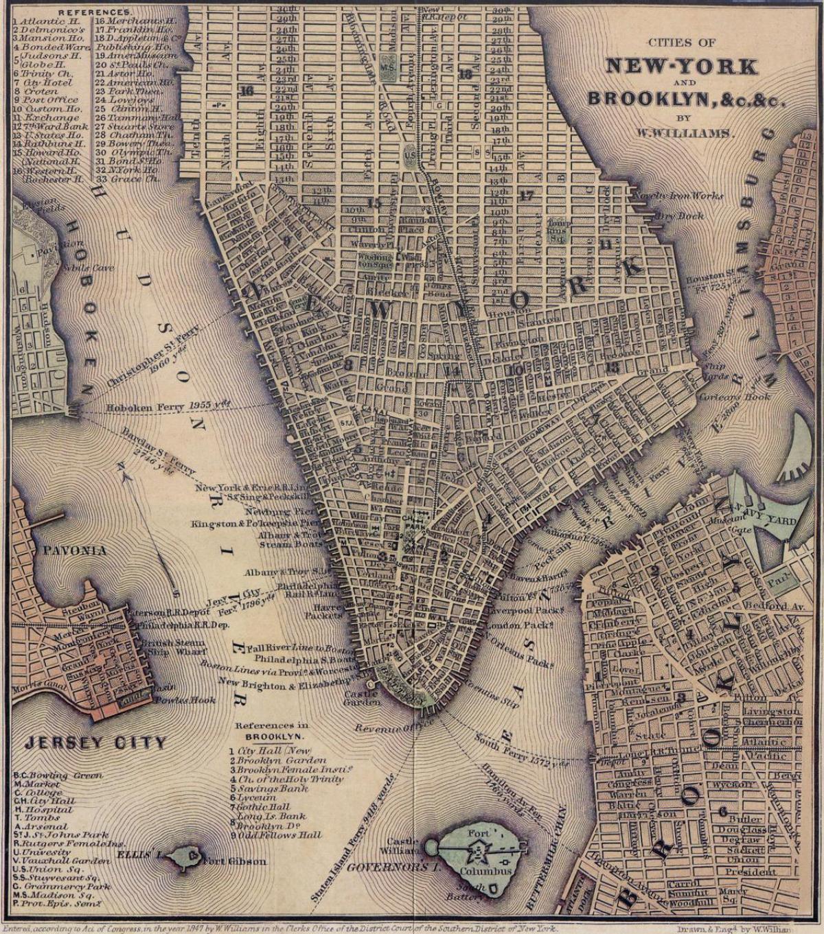 Vintage New York Mappa